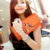 2013Spring summer series candy color ladies novel design clutch bag,cow leather wholesale women leisure bag