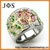 Wholesale Fashion Jewelry Stainless Steel Pave Bead Crystal Ring