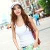 2013 wholesale vest tops,plain white cotton vest,womens tank tops