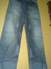 transfer print cotton jeans