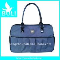 2012 zipper poly handbag gift promotional bag lady shoulder bag business-style tote bag(BL51069FB)