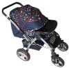 2012 new design sports version waterproof folding baby stroller with front food tray(688-6)
