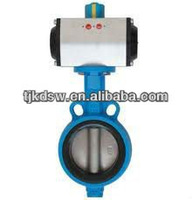 High Quality Stainless Steel Pneumatic Wafer Type Butterfly Valves