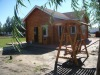 Russian prefabricated bungalow log wooden house with vacuum pressure against insects