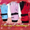 hot sell ladies ski sports gloves with leather
