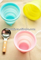 Cheap Silicone Folding Cup, Silicone Travel Cup