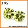 Hot Selling 925 Sterling Silver Cubic Zirconia Light Olivine Stud Earrings