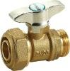 brass ball valve T handle