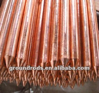 copper welded earthing rod