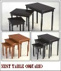 3 pieces antique wooden nesting table