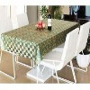 3D Embossed Golden PVC Tablecloth with Nonwoven or Flannel