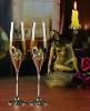 Heart Champagne crystal glass set of 2