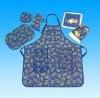 AZO free machine washable waterproof anti-oil printed aprons/waist cloth