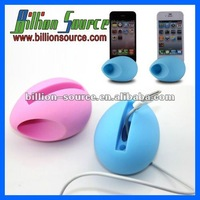 logo add silicone loud speaker for iphone 4/4S