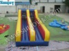 Inflatable two ways bungee run sport games