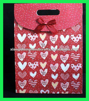 Heart-Shaped Pattern Paper Gift Bags Birthday Wedding Party