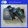 Survival Flint Firesteel Kit (Magnesium rod+Saw+Whistle)