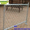 hot-dipped galvanized temporary fence(factory)