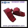 High precision cnc machined aluminum parts and custom machining parts with red color anodizing
