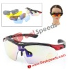 UV400 Sunglasses with Black Frame for Shooting / Cycling / Ski / Golf (5 Pcs of Divided Lens in One Packaging) UV400 Sunglasses