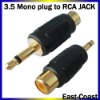 Audio adapter,3.5mm Mono male to rca jack
