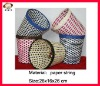 Handmade woven office basket,automatic waste basket