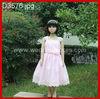 2-8 years spaghetti strap pink sash satin girl dress