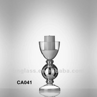 Small Size Glass Candle Stand for Wedding Decoration