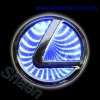 LEXUS abs chrome logos- newest 3d car logos-LEXUS chrome 3d logos light