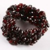 FREE SHIPPING !!! GARNET GEMSTONE CHIP BEADS STRETCHY BRACELET BANGLE