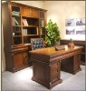 Classic reading room furniture,wooden bookshelf,classic writing table