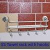 Stainless steel towel hooks/ towel rack with hook/wall-mounted towel hook