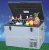 DC 24V/110V 35L Train freezer,DC compressor car refrigerator,DC solar freezer