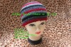 100%Acrylic strip multi-joint stock Knitted Beanies