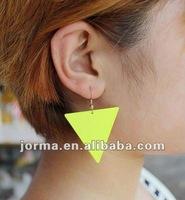 2012 hot sale fluorescent earrings, fashion oversized earring, fashion jewelry