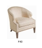 Wooden fabric hotel chair S-02