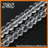 8mm White Crystal & Glass Beads, Faceted Crystal