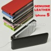 Luxury Leather Flip Cover For iPhone5,pu and real leather can available