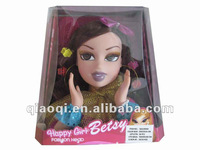 32 inch beautiful rubber girl doll head make up toys