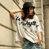 Fashion short sleeve 2012 summer new Street letters ladies' t shirts