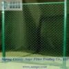 Industrial chain link fence gates
