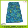 100% cotton velour reactive printing cut pile Interwoven satin stripe jacquard satin border beach towel