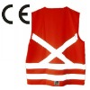 Red warning safety reflective working vest with CE