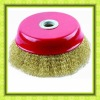 crimped cup wire brush small brass wire brush spiral wire brush
