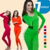 Seamless body build thermal underwear for women in 7 colors