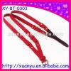 fashion two cord red PU leather belt for lady