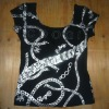 Hot sale cheap used clothes ladies t shirts