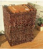 natural willow panel hideaway for garbage bin