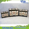 Multifunction wood trinket box