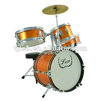 Orange Color 4 Pieces Children Junior Drum Kit